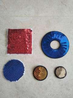 Sew on patch - sequins square round circle donut