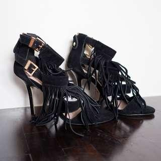 Juicy Couture Fringe Heels