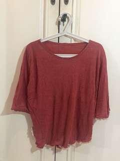unbrand - Pink Maroon Batwing