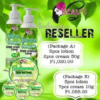 Glutamansi Whitening Lotion and Face and Body Cream