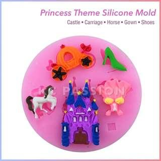 👸🏼 PRINCESS SILICONE MOLD [Castle • Carriage • Horse • Gown • Shoes]