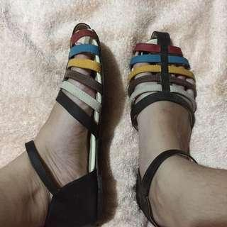 Rainbow Open Doll Shoes / Sandals
