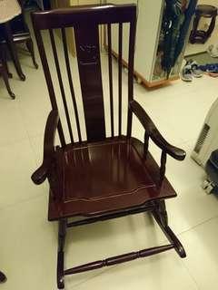 YPO rocking chair 經典花梨木搖椅