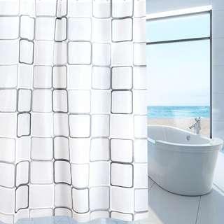 🚚 Modern Designer PEVA Bathroom Shower Curtain with 12 Hooks 180 x180cm Waterproof