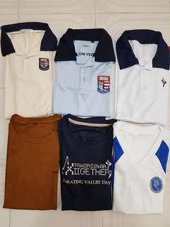 School T-shirt and Polo T-shirt
