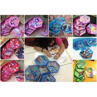 46 pieces cartoon colour art giftset