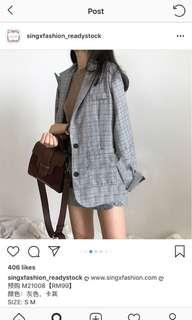 Checkered jacket with shorts