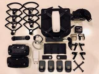 DJI Spark with 2 remote & 4 batteries and more