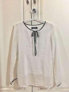 Stamp collection - White Blouse with Ribbon