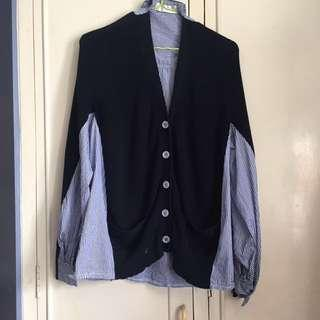 Pinstripes Polo Sweater