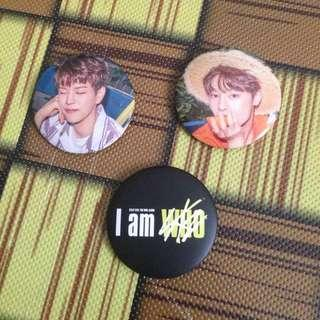 STRAY KIDS I AM WHO OFFICIAL GOODS  - PIN BUTTON