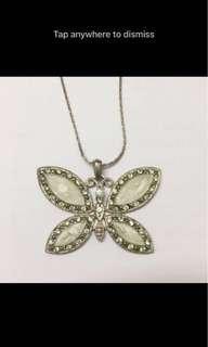 Mint butterfly necklace