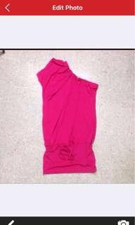 Chic pink Toga dress