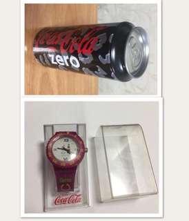 可口可樂手錶和毛巾,二件共$50