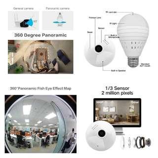 🆕🆒 1080P 360 Degree Wireless IP Camera Fisheye Panoramic Surveillance Security Camera Wifi Night vision Bulb Lamp CCTV Camera P2P