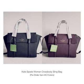 ♠️ON SALE! 💯% Kate Spade Women Crossbody Sling Bag (Black / Maroon) Pre-Order Now!