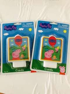 🚚 Peppa Pig Candle for birthday cake