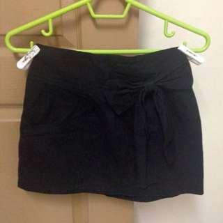 Black Ribbon Skirt