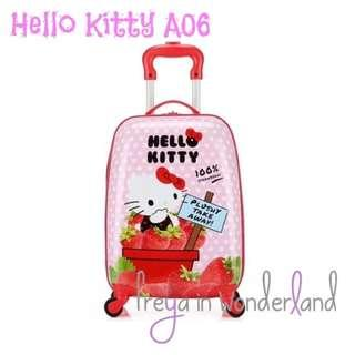 A06 18 Inch Hello Kitty Kids Luggage Travel Cabin Size Girls Trolley Suitcase Holiday