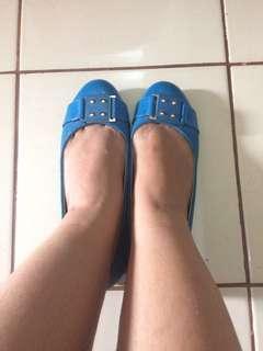 JUAL MURAH + ONGKIR JABODETABEK!! Sepatu Flat Shoes Biru Calliope