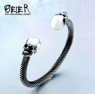 Skull patern bangle bracelet 316 stainles steel high quality