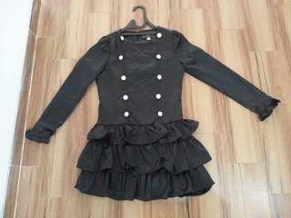 Mini dress hitam size M