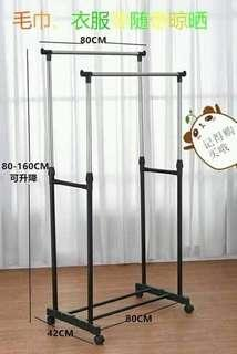 Restock Double Pole Clothes Rack