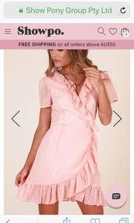 Showpiece blush dress
