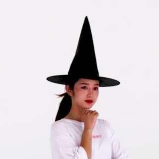Halloween Black Witch Hat Nylon Foldable