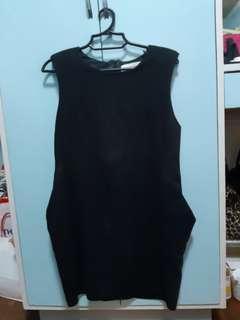 ZARA black dress with pockets