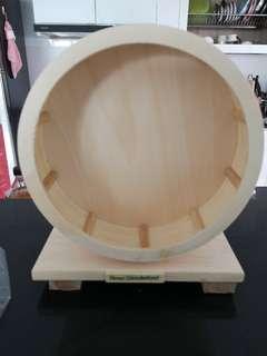 🚚 Wooden Wheel for dwarf hamsters (20cm)