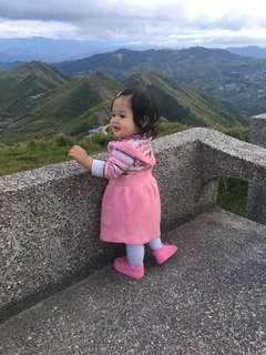 Pink pinafore mothercare