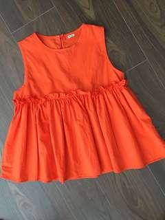 Baby doll orange top