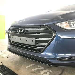 Hyundai Elantra S Plastidip Front Grille Plasti dip Service