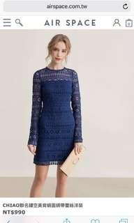[BNWT] Airspace Navy Blue Lace Dess