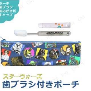 <日本直送,現貨> STAR WARS 成人用旅行牙刷+牙膏連袋