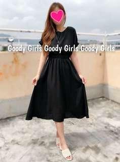 Korea dress 黑色連身裙