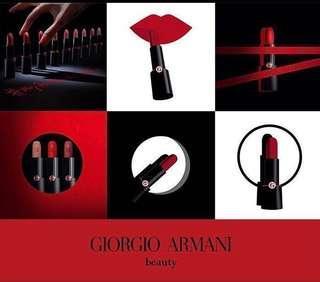 🚚 台灣未上市⚠️現貨#400最後一支⚠️Giorgio Armani rouge d' Armani matte霧黑管💄霧面唇膏/口紅
