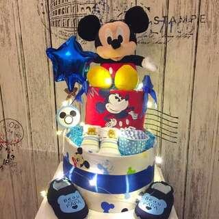 Micky 2-tier Diapers Cake