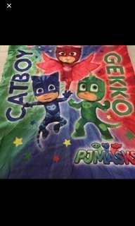 Instock authentic pj mask kids blankets brand new size ht 150cm wt 110cm