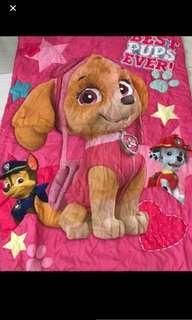 Last set left no restock !! Paw Patrol Skye blankets gd quality brand new ht 150cm wt 110cm