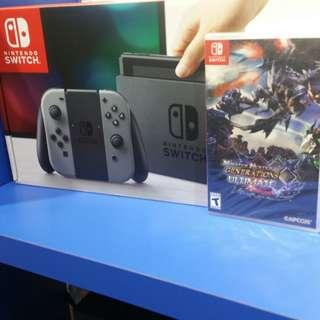 Nintendo switch with Monster Hunter Generation Ultimate