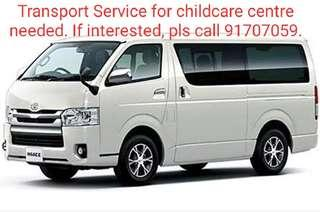 Transport Service for childcare centre required.