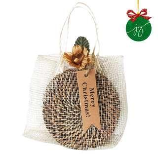 5 Piece Nito Coaster in Sinamay Bag