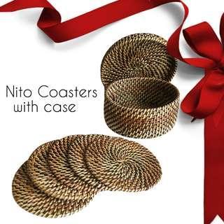 5 Piece Nito Coaster with Case
