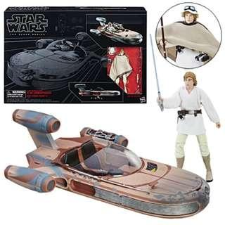 [In hand] Hasbro Star Wars The Black Series - Luke and Landspeeder
