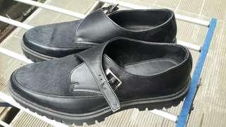 Zara Leather derby shoe's with fur