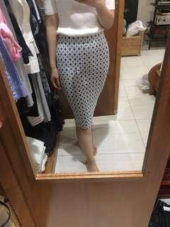 Zara Diamond Pattern Midi Skirt