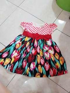 Dress  tulip flowery dress age2
