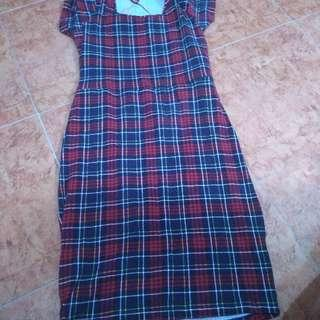 F21 checkered backless dress